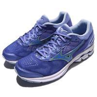 Mizuno Wave Rider 21 Blue Purple Volt Women Running Shoes Sneakers J1GD18-0329