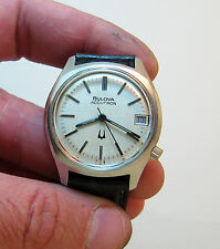 RARE SERVICED 219 ACCUTRON  STAINLESS STEEL TUNING FORK WATCH N6