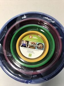 Weight Watchers Make It Delicious Nesting Bowl Set Of 4 Colorful Meal Prep Bowls