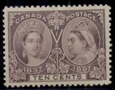CANADA#57, 10¢ Jubilee, og, NH, PSE Grade 95 XF/Superb, rare in this quality