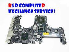 """EXCHANGE SERVICE: MACBOOK PRO 15"""" A1286 820-2850-A LOGIC BOARD NEW GPU"""
