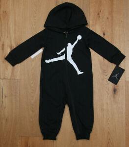 Air Jordan Baby Boy Hooded Coverall ~ Black & White ~ Jumpman ~