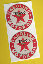 HOT ROD Retro worn 'TEXACO MOTOR OIL' vintage GAS AND oil Sticker Decal Chevy