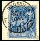 Timbre France classique Sage n°90 Oblitération CAD Marseille ligne d