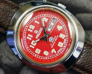 VINTAGE RICOH AUTOMATIC CAL.R31 DAY/DATE JAPAN MEN'S USED WATCH WORKING 24225