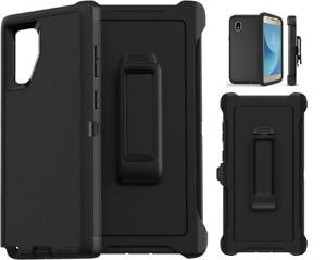 new Samsung  note 10 20 5G s10 s8 plus defender strong Case with belt Clip