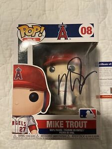 Mike Trout Signed Funko Pop PSA COA PLEASE REVIEW PICS OF FUNKO Comes With Case