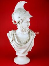 AJAX THE GREAT - CARRARA MARBLE BUST MADE IN ENGLAND