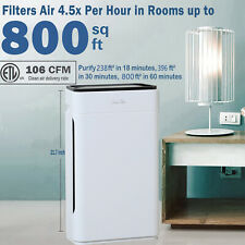 H13 Hepa Air Purifiers for Home Large Room Air Cleaner for Allergies Smoke 23dB