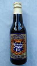 Jeune Rowley Paine Bière Ale 275 ML Limitée Bouteille Charles Diana Mariage 81