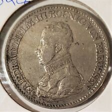 Germany Prussia 1820 A 1 Thaler .750 Silver Coin KM 396 VF