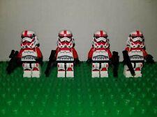 Custom Lego Star Wars Imperial Shock Troopers 75046 clone red Stormtrooper 75134