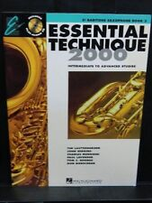 ESSENTIAL TECHNIQUE 2000 BARITONE SAX SAXOPHONE Music Band BOOK 3