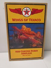 Wings of Texaco 1929 Curtis Robin Airplane coin bank Ertl MIB