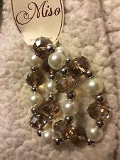 NEUF avec etiquette Miso 2 Row Pearl Bead Bracelet ACHETER DEUX choisir un libre