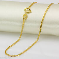 Perfect Solid 18K Yellow Gold Necklace/ Perfect Wheat Chain Necklace/ 1.92g