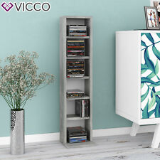VICCO CD Regal DVD Ständer Beton Wandregal Hängeregal Bücherregal Büroregal