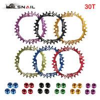 30T Round Narrow Wide Chainring 104bcd Aluminum alloy 7075 MTB Bike Chainwheels