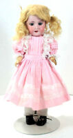Antique Armand Marseille 390N Doll Pink Dress Germany DRGM246/1 2/0M Beautiful