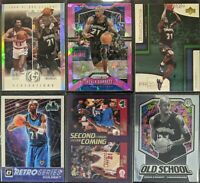 Lot of (6) Kevin Garnett, Including Prizm pink ice, Optic/Mosaic & other inserts