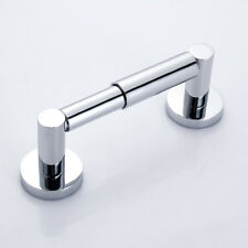 Wall Mounted Toilet Roll Holder Chrome Round Bathroom Tissue Paper Bar Stand New