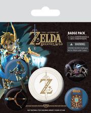 Button Badge 5er Pack THE LEGEND OF ZELDA - Z Emblem - 1x38mm & 4x25mm BP80598
