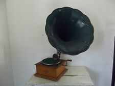 gramophone phonographe a pavillon peerless phone reproducteur pathé 10 disques