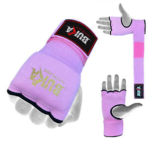 BUKA™ Gel Padded Inner Gloves with Hand Wraps MMA Muay Thai Boxing Fight PAIR