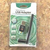 150Mbps USB WiFi Adapter Dual Band Wireless Network Laptop Desktop PC Antenna
