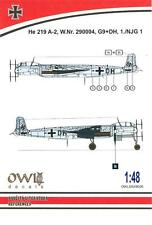 Owl Decals 1/48 HEINKEL He-219A-2 Night Fighter W.Nr. 290004 1./NJG.1