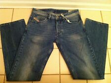 "DIESEL DESIGNER MEN'S BLUE JEANS DENIM PANTS ""LARKEE"" SIZE 31W 34L!!"