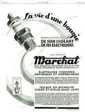 Publicité ancienne voiture bougie Marchal vie d'une bougie 1929 issue magazine