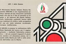 Tessera 1984 Movimento Sociale MSI M.S.I perfetta