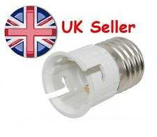 E27 to B22 LED CFL Incandescent Light Lamp Adapter Converter Edison to Baynet UK
