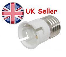 E27 to B22 LED CFL Incandescent Light Lamp Adapter Converter Edison to Baynet UK