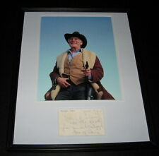 Jack Palance Signed Framed 1975 Note & Photo Poster Display 16x20