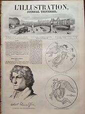 L'ILLUSTRATION 1844 N 59 LE GRAND SCULPTEUR DANOIS : ALBERT THORWALDSEN