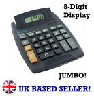EXTRA LARGE JUMBO Big Button Calculator Desktop Office Work Solar Battery Memory
