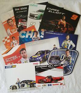 CHASE ELLIOTT NASCAR POSTCARD 12 CARD LOT INCLUDES 2- 2021 CARDS & BOUNTY HUNTER