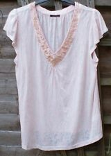 Savoir Size 20 Peach & White Top with Beading
