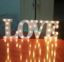 Light LOVE Batteries Wedding Reception Sign Solid Wooden Letters love Decor