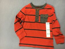 Old Navy Boy's NWT Blue & Red Long Sleeve Shirt. Size 2T.