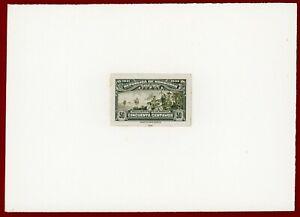 Honduras 1931 #305, Plate Proof on Card, Discovery of America, Ship, ABNC