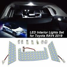 For Toyota RAV4 2019 2020 White Interior Car LED Light Bulb Package Kit