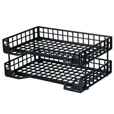 Esselte CLTBK Industry Document Tray Collapsible Set2 Black