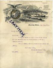 1907 LETTERHEAD Philip Broomfield & Company BOSTON Massachusetts F. HERSCHMAN