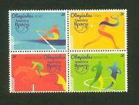 URUGUAY Olympic Brazil 2016 MNH STAMP Horse Rowing Marathon Tennis AMERICA UPAEP