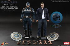 HOT TOYS 1/6 CAPTAIN AMERICA WINTER SOLDIER MMS243 STEVE ROGERS 2PACK SET FIGURE