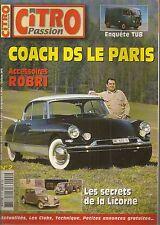 CITRO PASSION 2 CITROEN DS CHAPRON COACH LE PARIS CHAPRON 1959 LICORNE RIVOLI 38