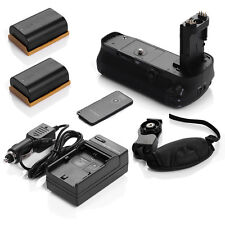 Battery Grip for Canon EOS 5D Mark III + 2x LP-E6 Battery +Charger +Remote+Strap